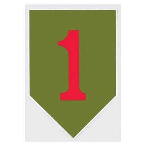big red one 1st infantry decal