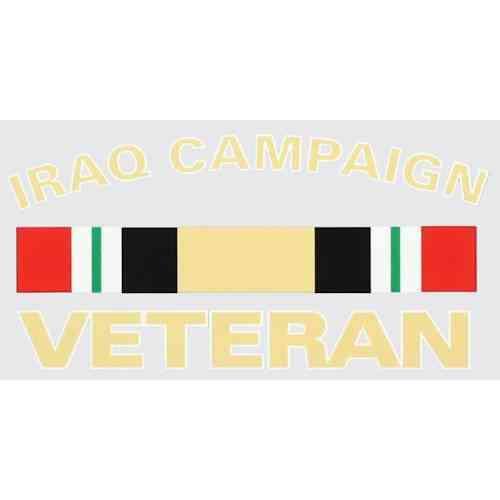 iraq campaign ribbon decal