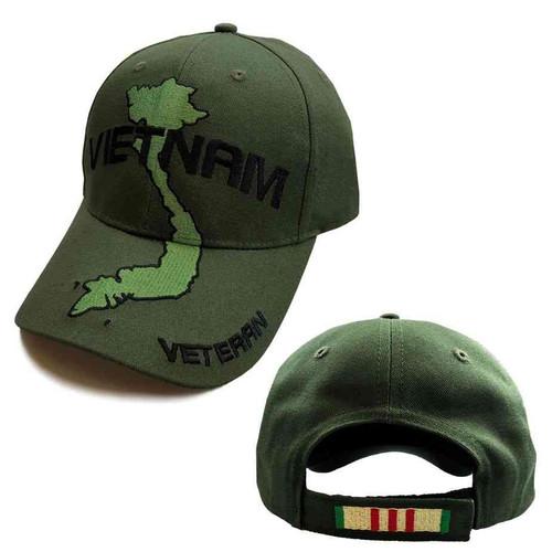 vietnam veteran hat vintage embroidered map
