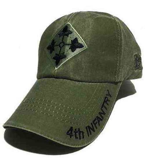 u s army 4th infantry division insignia olive drab cap