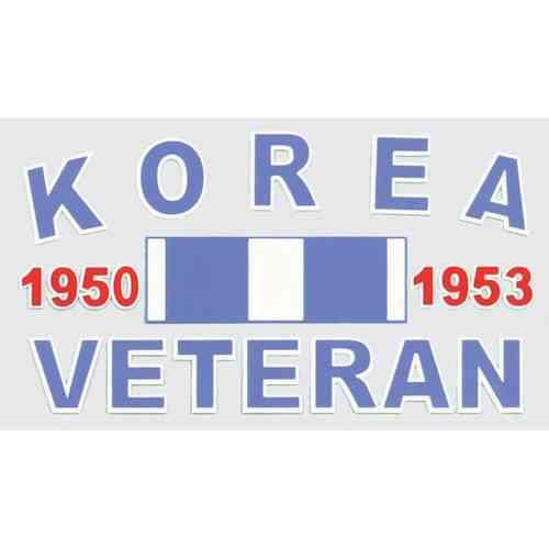 korea ribbon decal