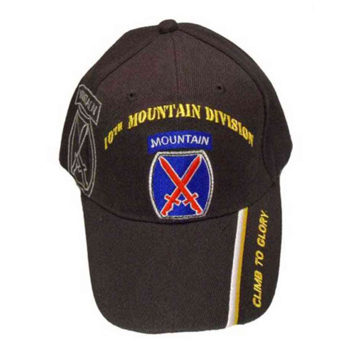 army 10th mountain division climb to glory hat