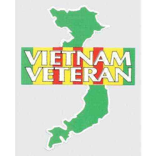 vietnam veteran map and ribbon decal