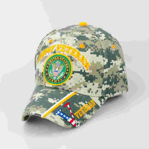 u s army veteran logo digital camo cap