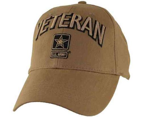 u s army veteran vintage coyote brown hat