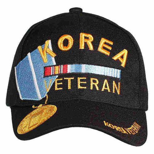 korea veteran service medal hat