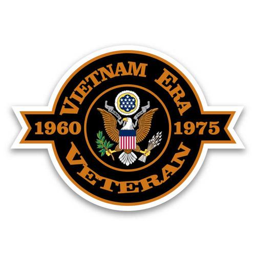 vietnam era veteran decal sticker eagle emblem