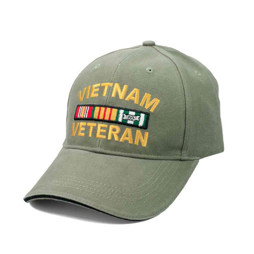 vietnam veteran deluxe vintage ribbon hat