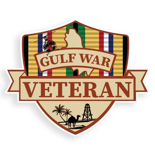 gulf war veteran decal sticker
