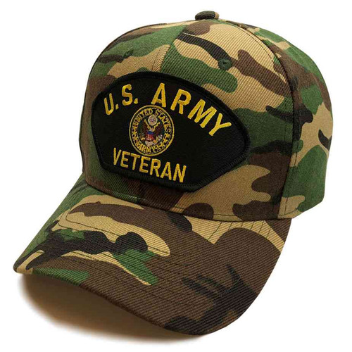 u s army veteran crest special edition woodland hat