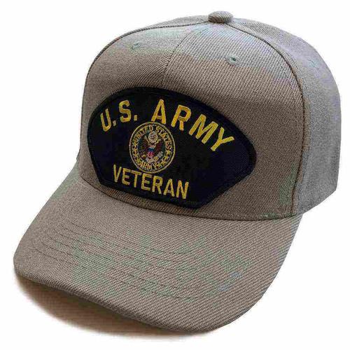 u s army veteran crest special edition gray hat