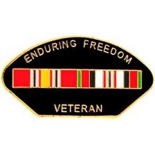 afghanistan enduring freedom veteran ribbon pin