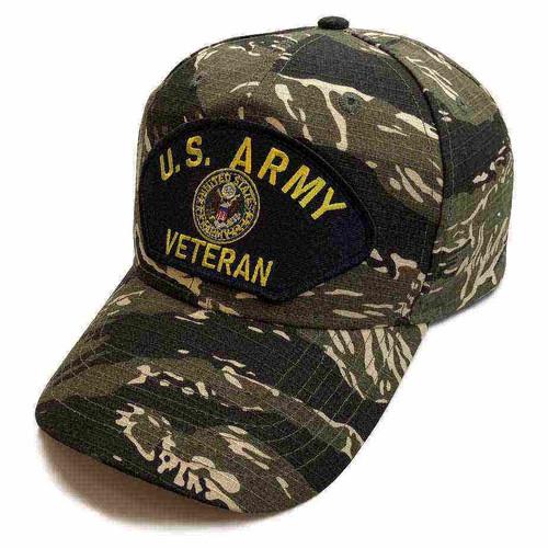 us army veteran eagle seal tiger stripe camo hat