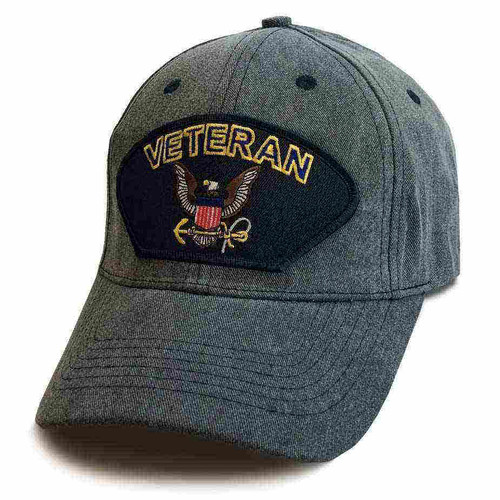 officially licensed u s navy veteran eagle and anchor special edition vintage hat