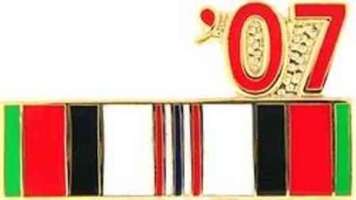 2007 afghanistan veteran campaign ribbon pin
