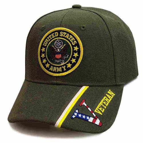 united states army emblem custom edition o d hat veteran