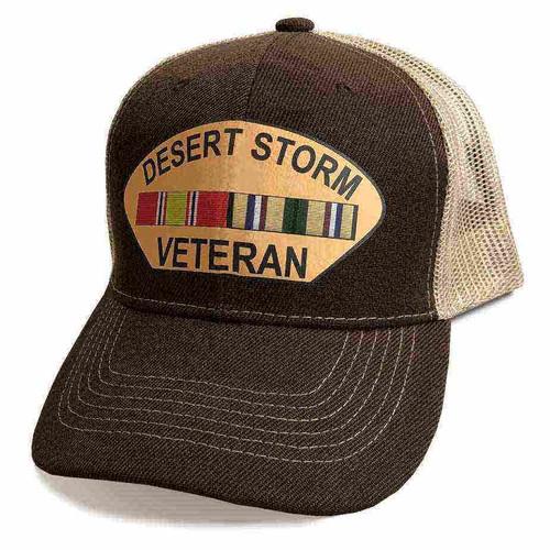 desert storm veteran hat custom vinyl emblem