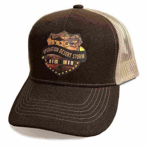 operation desert storm custom edition vinyl emblem hat