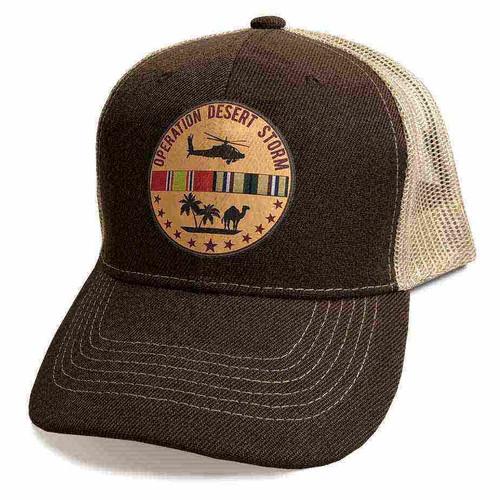 operation desert storm ribbons and huey custom edition vinyl emblem hat