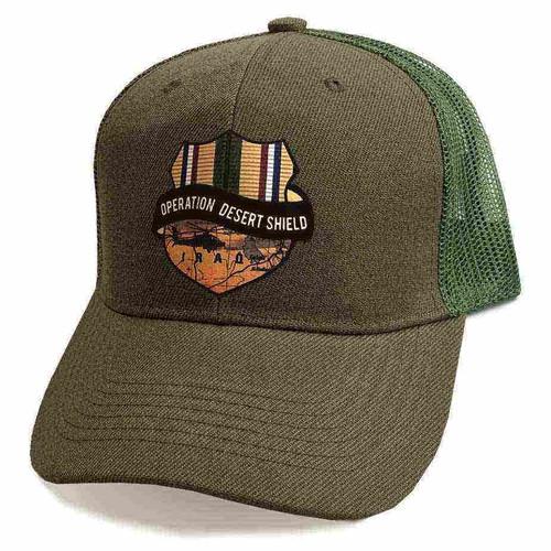 operation desert shield custom edition vinyl emblem hat
