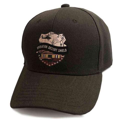 operation desert shield custom edition vinyl emblem brown hat