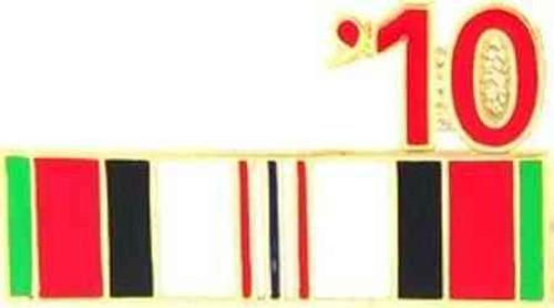 2010 afghanistan veteran campaign ribbon pin