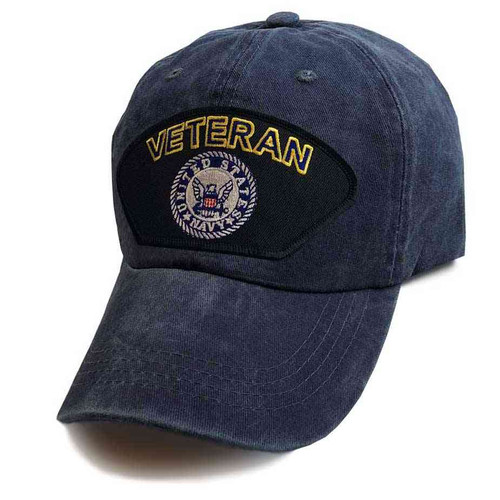 officially licensed u s navy veteran blue emblem special edition vintage blue hat