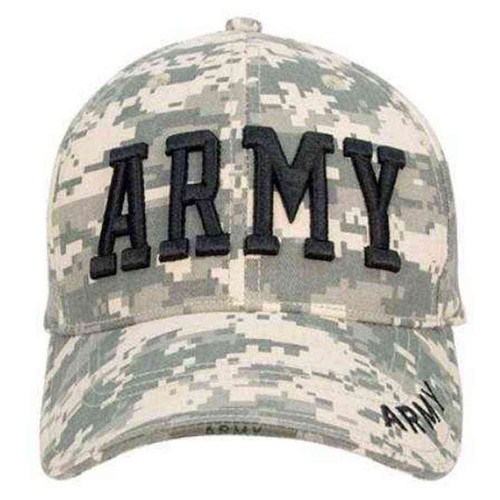 army embroidered digital camo low profile hat