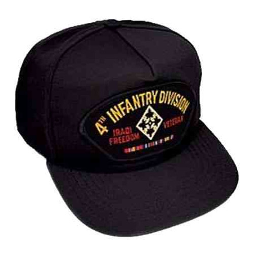 army 4th infantry division iraq veteran hat