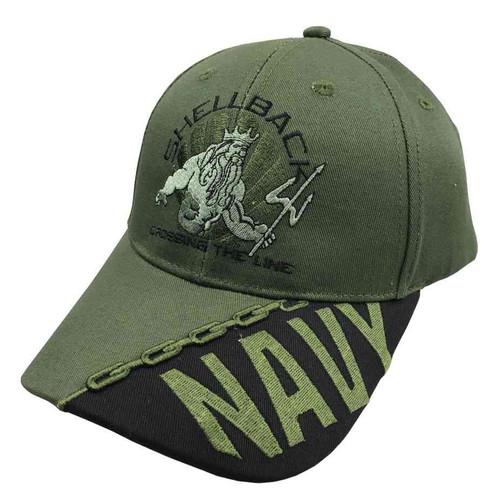 navy vintage hat shellback crossing line