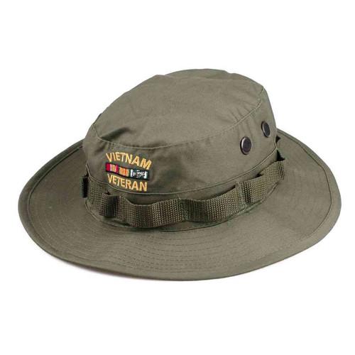 embroidered vietnam veteran boonie hat