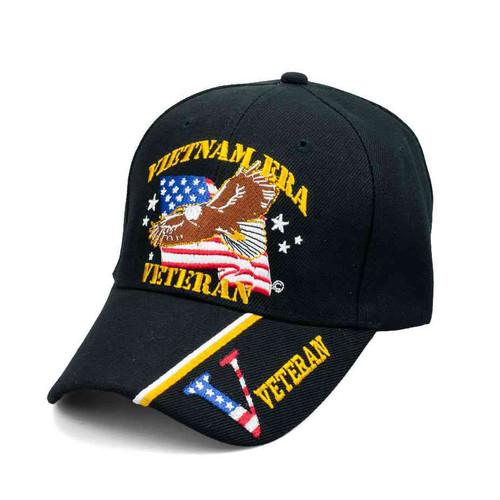 vietnam era veteran eagle american flag hat