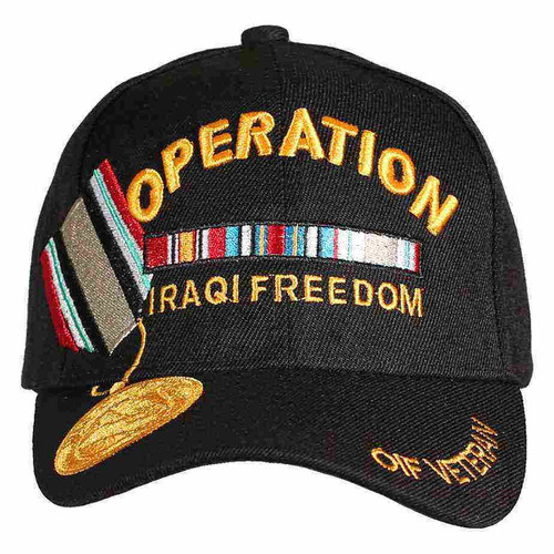 operation iraqi freedom veteran campaign medal hat