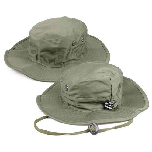 u s military adjustable o d boonie hat