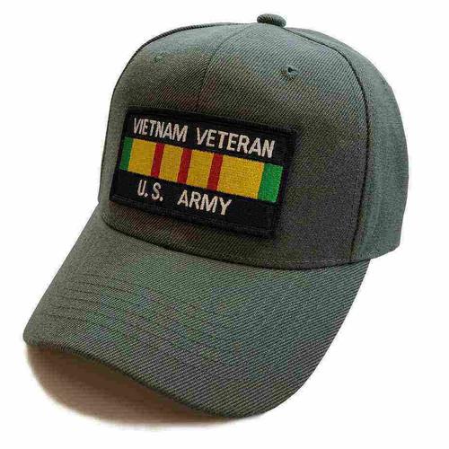 us army vietnam veteran service ribbon dark gray low profile hat