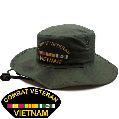combat veteran vietnam boonie hat limited issue