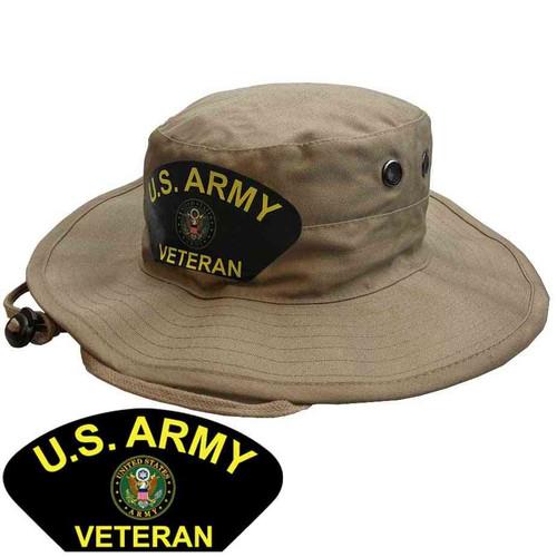 u s army veteran crest boonie hat limited issue in khaki
