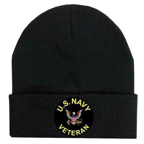 us navy veteran and eagle black beanie vinyl