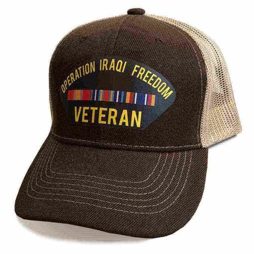 operation iraqi freedom veteran mesh hat vinyl
