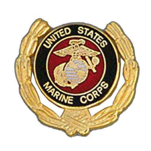 us marine corps globe logo wreath pin