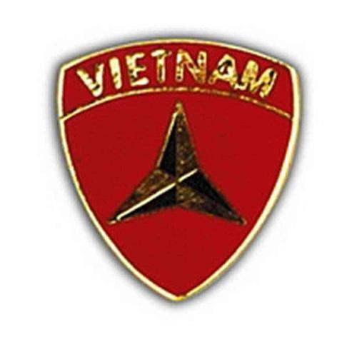 3rd marine division vietnam hat lapel pin