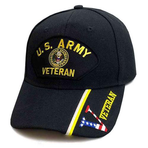 us army veteran hat crest and v veteran s