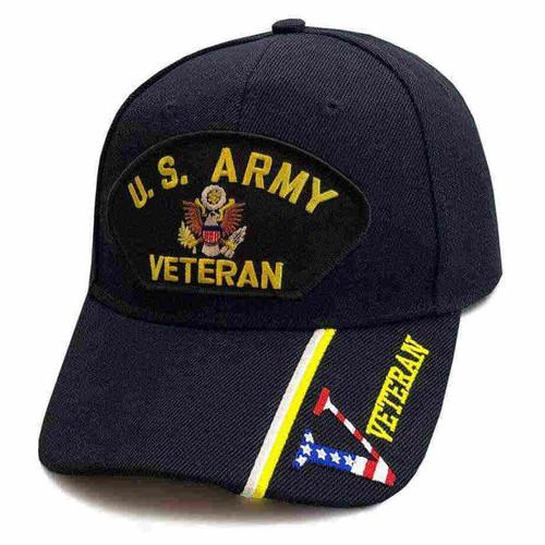 u s army veteran hat eagle emblem and v veteran s