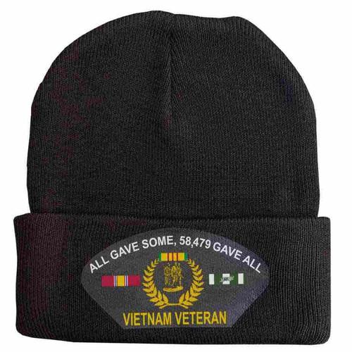vietnam veteran all gave some 58479 gave all custom edition vinyl knit winter hat
