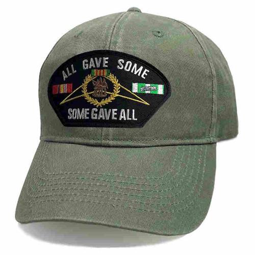 vietnam all gave some some gave all vintage o d hat