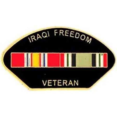 iraqi freedom veteran hat lapel pin