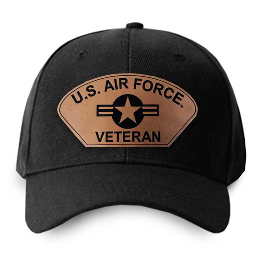 us air force veteran hat leather patch