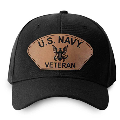 us navy veteran hat leather patch