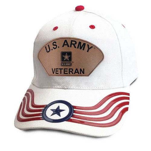 us army veteran hat custom leather patch and banner