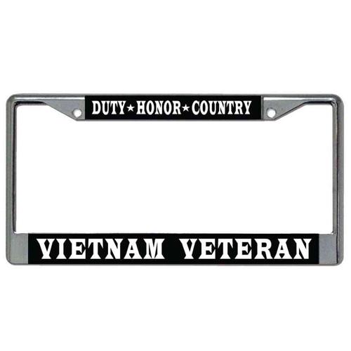 vietnam veteran dutyhonorcountry license plate frame